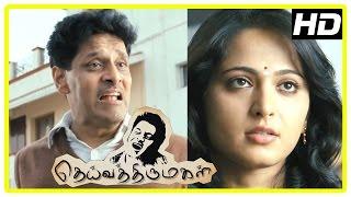 Deiva Thirumagal Tamil movie   scenes   Anushka decides to help Vikram   Santhanam