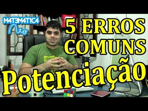 watch 5 ERROS COMUNS EM POTENCIAÇÃO | Matemática Rio