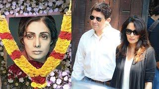 Emotional Madhuri Dixit Breaks Down At Sridevi's Funeral In Mumbai