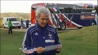 Dispute EVRA DOMENECH DUVERNE à l'entrainement - 20 juin 2010 - Coupe du monde de Football