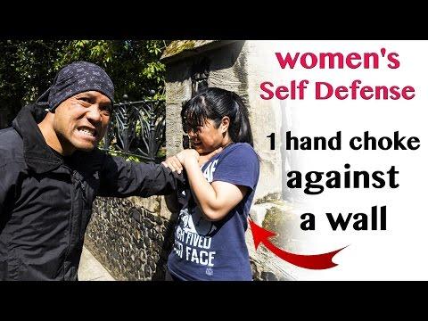 Women Self-defense - 1 hand choke against a wall | Wing Chun