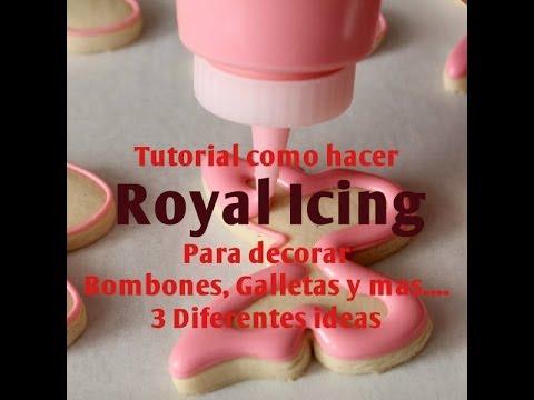 Cómo Hacer Royal Icing Para Decorar Bombones Galletas y más 3 Ideas Madelin s Cakes
