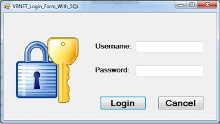 VB.NET - How To Create Login Form With SQL Database Using Visual Basic .Net [with source code]