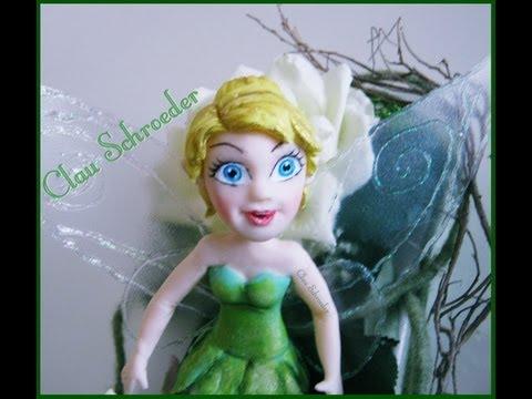 Tinker Bell Fada Sininho 1° parte modelando rostinho Biscuit Porcelana Fria