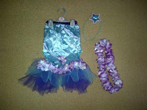 DIY Como hacer un disfraz de Sirena para niñas