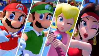 Mario Tennis Aces - All Character Entrances (DLC Included)