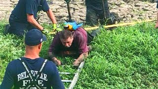 Firefighters Rescue Man and His Pet Parrot From Illinois Mud Pit