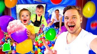 Easter Backyard Bouncy House Special!