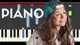 Karol Sevilla La Bikina Luis Miguel Coco Soy Luna Piano Midi tutorial Sheet app Cover Karaoke