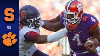 Syracuse vs. Clemson Football Highlights (2016)