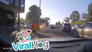 Taxi Gets T Boned || ViralHog