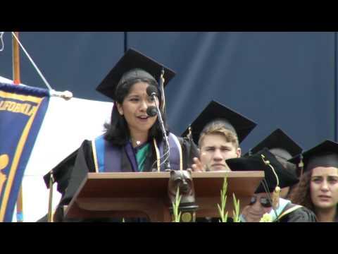 UC Berkeley Medalist Radhika Kannan Speaks at Commencement