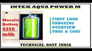 [Hindi] Intex Aqua Power M Review, First Look, Unboxing, Overview, Pros & Cons in Hindi - TDI