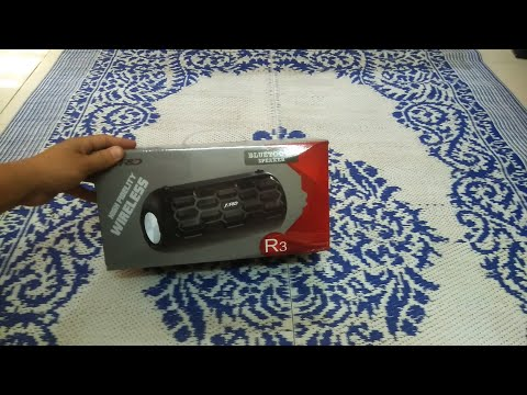 Xxx Mp4 F Amp D R3 12 4W Portable Bluetooth Speaker Unboxing 3gp Sex