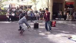 Hilarious! Drunk Aboriginals dance with street performer