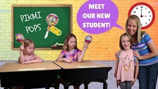 New Kid at FAKE Toy School with Addy Maya & Avery !!!