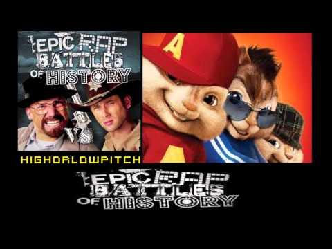 Rick Grimes vs Walter White. Epic Rap Battles of History Season 3. CHIPMUNKS' version