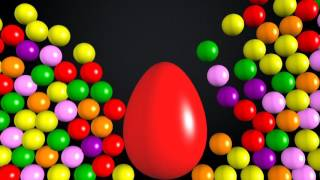 Learn colors animation surprise eggs english for kids
