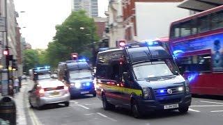 Massive Police Emergency Response in London - Convoys, Vans, Cars & Motorcycles