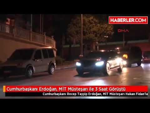 son dakika Cumhurbaşkanı Erdoğan, MİT Müsteşarı ile 3 Saat Görüştü