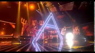 andrea faustini in gold X factor week 4