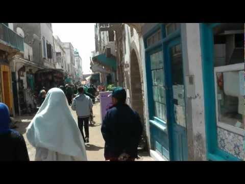 Walking through Essaouira Morocco 1080 50p Full HD