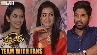 Sarainodu Team Interview with Fans about Success || Allu Arjun, Rakul Preet Singh, Catherine Tresa