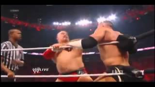A-Train Returns as Lord Tensai WWE Raw 4/2/12