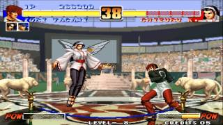 Tips vs Bosses Iori vs Chizuru KOF 96