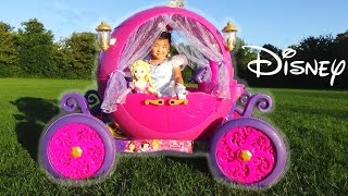 Dynacraft 24v Disney Princess Carriage Ride-on Powerwheels with Cinderella and Rapunzel Doll