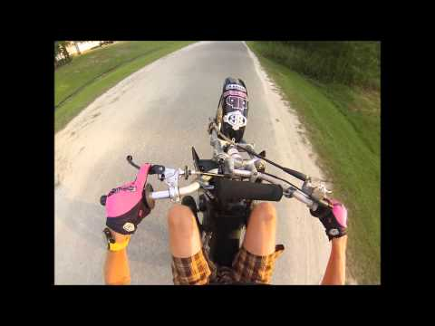 How to set up your Pitbike or Minimoto for Stunting, and how to Wheelie and Endo!