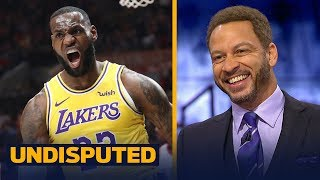 Chris Broussard gives LeBron a C+ grade for his Lakers regular season debut | NBA | UNDISPUTED