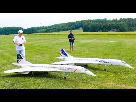 Xxx Mp4 STUNNING FORMATION FLIGHT TWO RC MODEL JET CONCORDE Airliner Meeting Oppingen 2017 3gp Sex