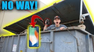 FOUND IPHONE X IN A DUMPSTER! (IT WORKED)