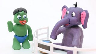 Green Baby GO TO THE ZOO - Stop Motion Cartoons For Kids