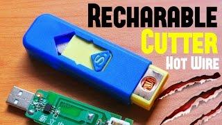 Foam Cutter Machine using Rechargeable USB Lighter