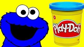 Play doh Cookie Monster Sesame Street Stop motion animation Monstruo de las galletas