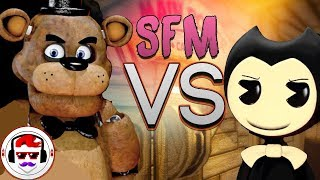 [SFM] FNAF vs Bendy and the Ink Machine Rap Battle | Freddy vs Bendy 2 | Rockit Gaming