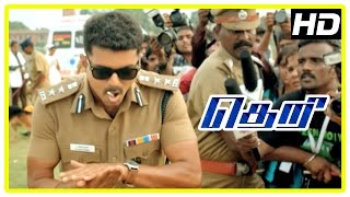 Theri Movie scenes | Rape Victim Raji dies | Vijay kills rapist | Vijay challenges Mahendran