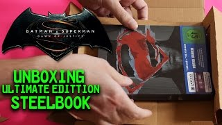 BATMAN v SUPERMAN: DAWN OF JUSTICE - unboxing Limited Steelbook Edition [ger/de]