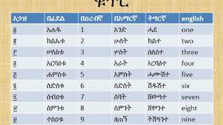 how to count numbers in geez lesson 24/ ቁጥሮች በግእዝ