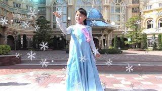 frozen elsa Bibbidi Bobbidi Boutique ビビディ バビディ ブティック アナと雪の女王 エルサ ディズニー おでかけ