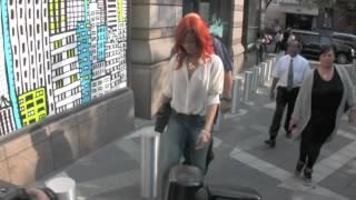 Rihanna annoyed by paparazzi in New York City