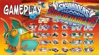 Skylanders SuperChargers - Reef Ripper Online Race Gameplay + komplettes Figuren Poster
