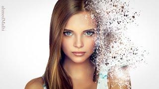 Pixel explosion effect/Disintegration effect photo Tutorial Photoshop CS6...