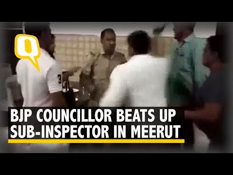 Xxx Mp4 Caught On Camera BJP Councillor Beats Up Sub Inspector In Meerut The Quint 3gp Sex