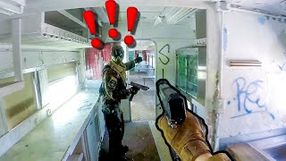 Magfed Paintball Inside of a Train