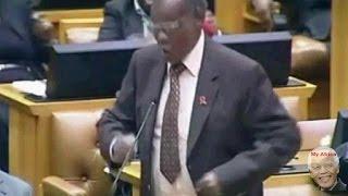 Zulu War Dance. Mangosuthu Buthelezi Entertains Parliament.