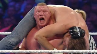 WWE RAW 7/25/16 - Brock lesnar vs Dean ambrose - WWE Wrestlemania 32 Full Length Match!