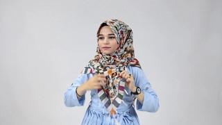 Hijab Tutorial | Şal Bağlama Modelleri 2017: Kare Şal Nasıl Bağlanır?